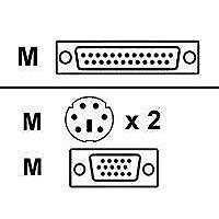 Avocent AutoView/DS1800 PS/2 Compatible KVM Cable, 8'