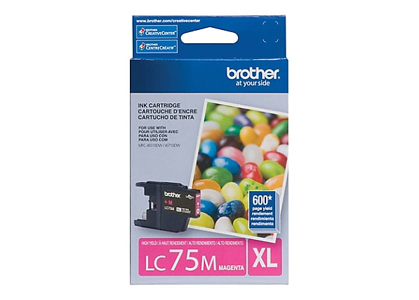 Brother LC-75M XL - High Yield - magenta - original - ink cartridge