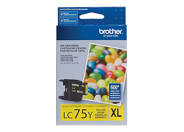 Brother LC-75Y XL - High Yield - yellow - original - ink cartridge