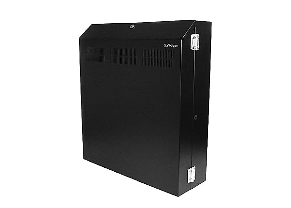 StarTech.com Wallmount Server Rack with Dual Fans and Lock - 4U