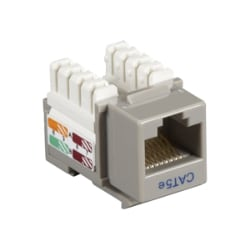 Black Box Cat5e or Cat5 Gray 110 UTP Keystone Punch Down Jack