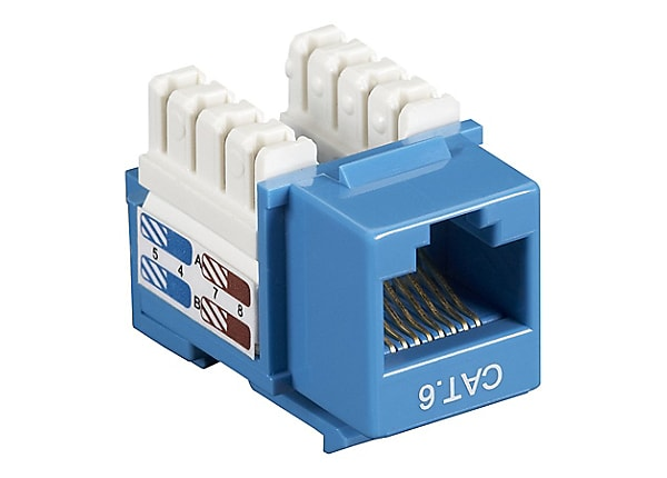 Black Box Blue CAT6 110 Punch Down Keystone RJ45 Modular Jack - CAT6J-BL -  Ethernet Cables - CDW.comCDW