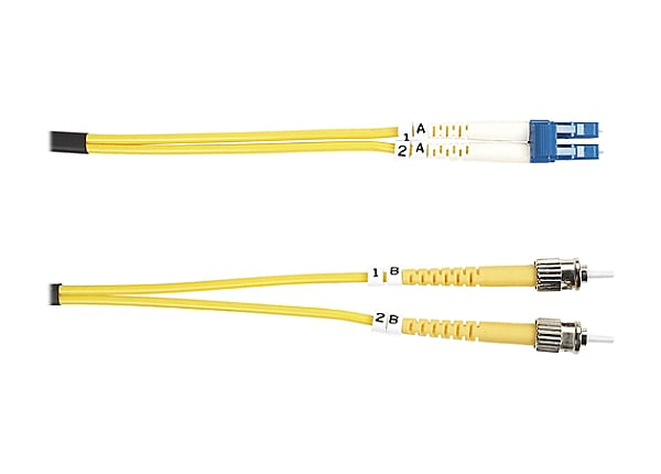 Black Box 10M ST/LC Duplex Single-mode 9-micron Fiber Patch Cable, Yellow