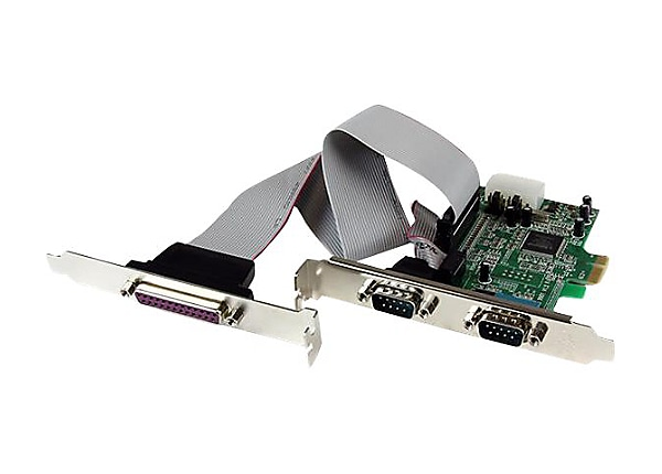 StarTech.com 2S1P Native PCI Express Parallel Serial Combo Card with 16550