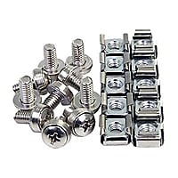 StarTech.com 100Pkg M6 Mounting Screws & Cage Nuts- M6 Cage Nuts and Screws