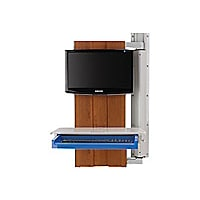 Rubbermaid Premium Tandem Arm with External CPU Holder  - Cabinet Finish