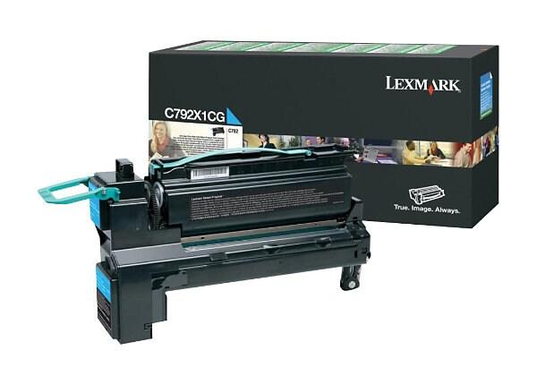 Lexmark - Extra High Yield - cyan - original - toner cartridge - LCCP, LRP