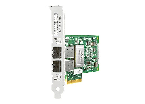 HPE StorageWorks 82Q - host bus adapter - PCIe x8 - 8Gb Fibre Channel x 2