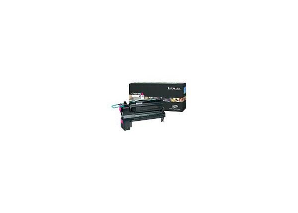 Lexmark X792E Extra High Yield Return Program Toner Cartridge - Magenta