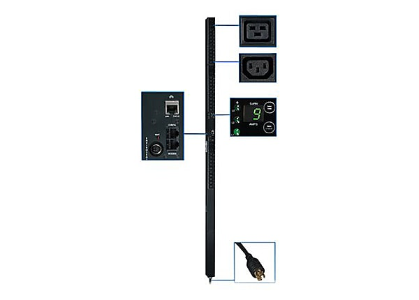 Tripp Lite 3-Phase PDU Monitored 5.7kW 208V Outlets 30 C13 & 6 C19 0U