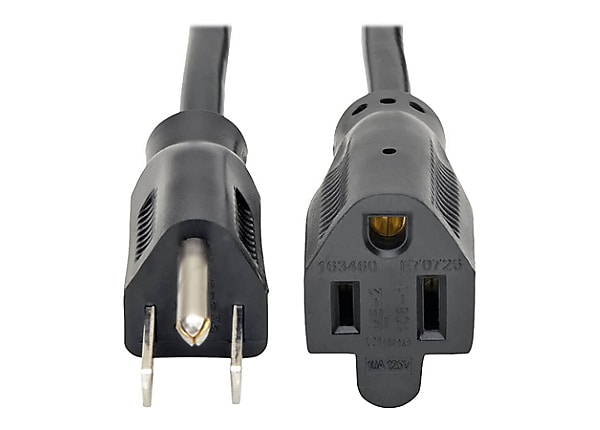 Tripp Lite 1ft Power Cord Extension Y Splitter Cable 5-15P to 5-15R 10A 18A