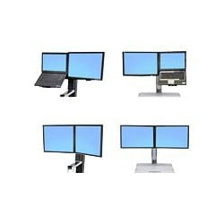 Ergotron WorkFit Convert-to-Dual from LCD & Laptop