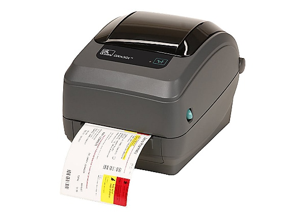 Zebra GX430t Monochrome Thermal Transfer Label Printer
