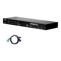 ATEN KVM on the NET CS1716IUKIT - KVM switch - 16 ports - rack-mountable