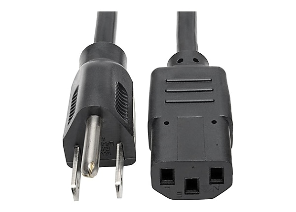 Tripp Lite Computer Power Extension Cord Adapter 10A 18AWG 5-15P to C13 10'