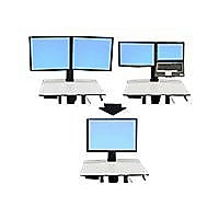 Ergotron WorkFit-C Convert-to-Single HD Kit from Dual or LCD & Notebook