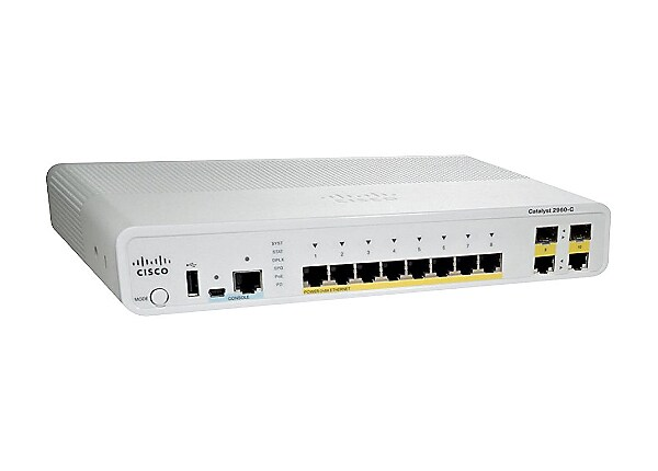 Cisco Catalyst Compact 2960C-8PC-L - switch - 8 ports - managed - rack-moun