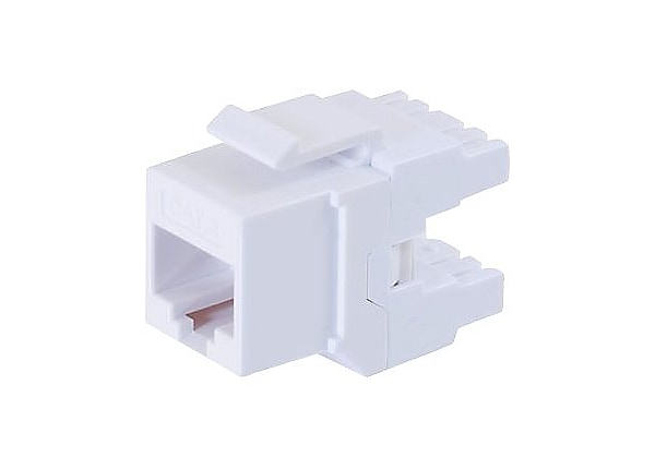 C2G 180 Degree Cat6 RJ45 UTP Keystone Jack - White - modular insert