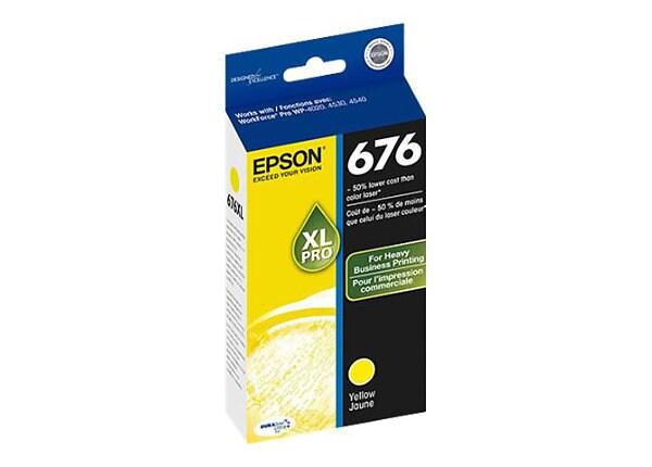 Epson 676XL - XL - yellow - original - ink cartridge