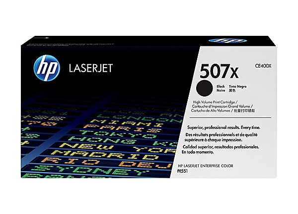 HP 507X Black High Yield Toner Cartridge