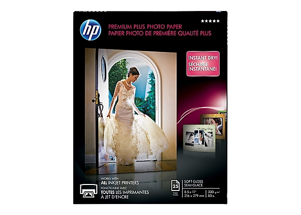HP Premium Plus - photo paper - 25 sheet(s) - Letter - 280 g/m²