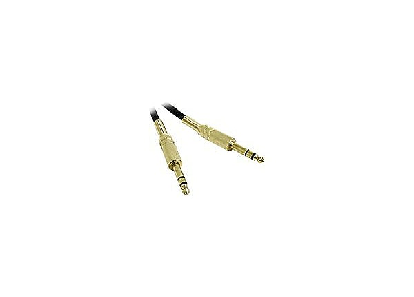 C2G Pro-Audio 3ft Pro-Audio 1/4in TRS Male to 1/4in TRS Male Cable - audio
