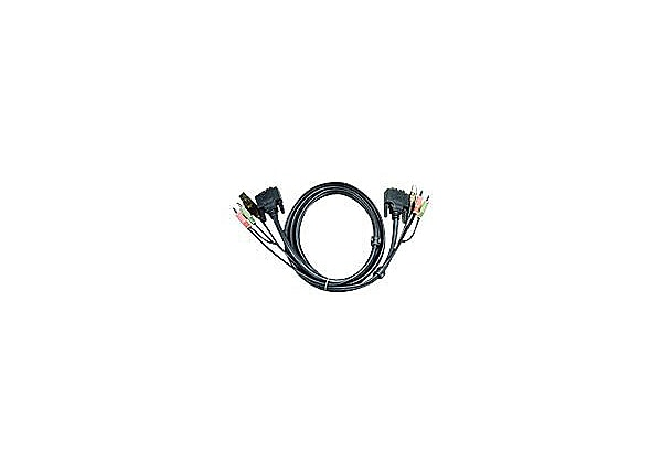 ATEN 2L-7D02UI - video / USB / audio cable - 6 ft