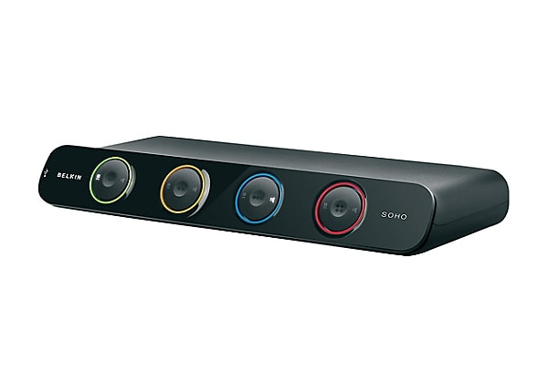 Belkin OmniView SOHO Desktop KVM Switch - Dual Monitor DVI-D & USB 4 Ports