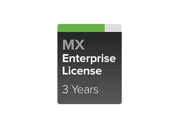 Cisco Meraki MX60 Enterprise - subscription license (3 years) - 1 license