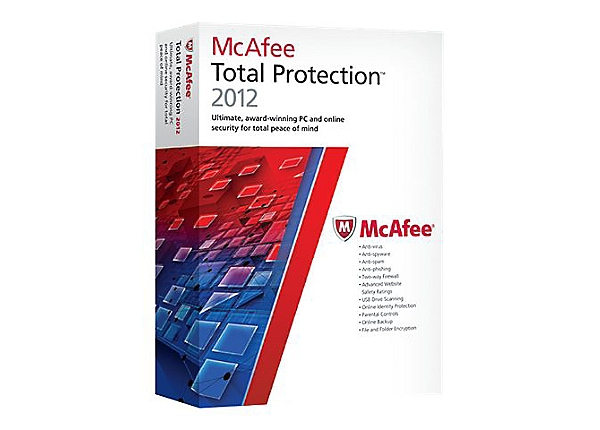 McAfee Total Protection 2012 - box pack (1 year) - 1 PC