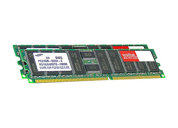 Proline - DDR - 2 GB: 2 x 1 GB - DIMM 184-pin - unbuffered