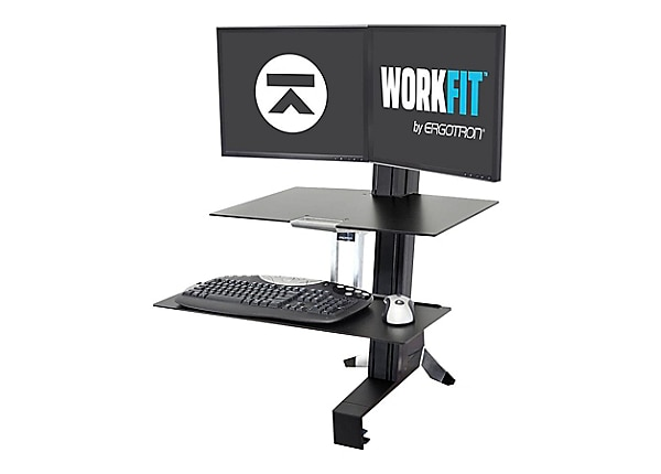 Ergotron Workfit S Dual Monitor Sit Stand Workstation With