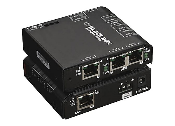 Black Box Convenient Switch Hardened 12 VDC - switch - 4 ports