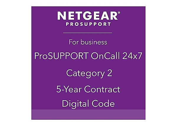 NETGEAR ProSupport OnCall 24x7 Category 2 - technical support - 5 years