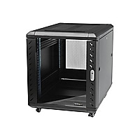 StarTech.com 12U 36in Knock-Down Server Rack Cabinet with Casters