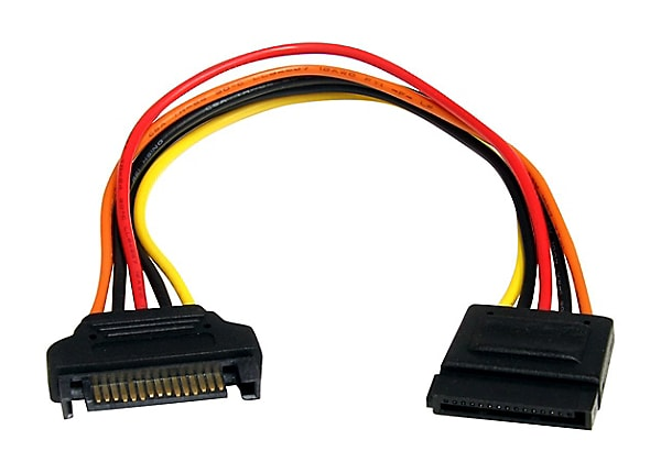 StarTech.com 8in 15 pin SATA Power Extension Cable - 8 SATA power Extension
