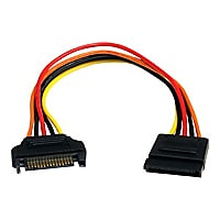 StarTech.com 8in 15 pin SATA Power Extension Cable - power extension cable
