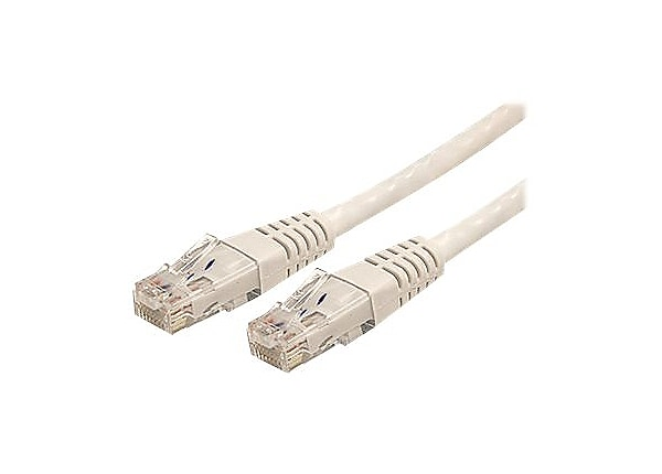 StarTech.com Cat6 Ethernet Cable 100 ft White - Cat 6 Molded Patch Cable