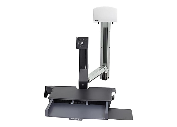 Ergotron StyleView Sit-Stand Combo System with Worksurface - mounting kit