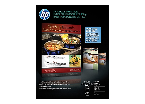 HP Brochure and Flyer Paper - paper - 150 sheet(s) - Letter - 180 g/m²