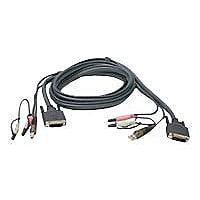 IOGEAR G2L7D02U - keyboard / video / mouse / audio cable - 6 ft