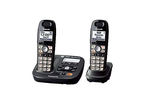 Panasonic KX-TG6592T - cordless phone - answering system with caller ID/cal