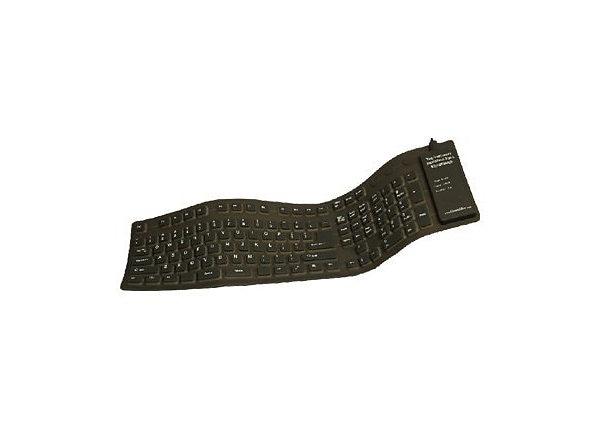 GrandTec Virtually Indestructible FLX-2000 - keyboard - black