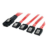 StarTech.com 1m Serial Attached SCSI SAS Cable SFF-8087 4x Latching SATA -