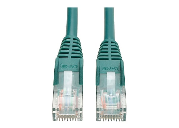 Tripp Lite 3ft Cat5e / Cat5 350MHz Snagless Patch Cable RJ45 M/M Green 3'