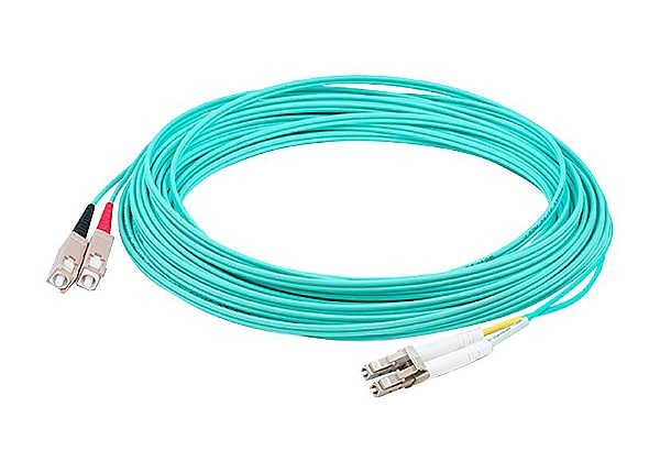 Proline 3m LC (M) to SC (M) Aqua OM3 Duplex Fiber OFNR Patch Cable