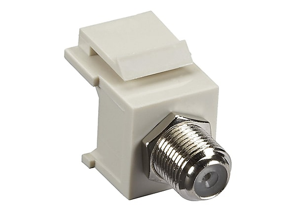 Black Box Gigastation 2, Office White Keystone Coax F-Connector, F / F