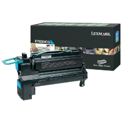 Lexmark X792 Extra High Yield Return Program Toner Cartridge - Cyan