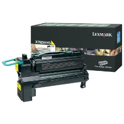 Lexmark X792 Extra High Yield Return Program Toner Cartridge - Yellow