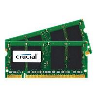 Crucial - DDR2 - 4 GB: 2 x 2 GB - SO-DIMM 200-pin